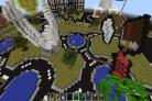 Swindon's Magic Roundabout as seen in Minecraft