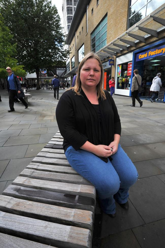 Coun Emma Faramarzi in the town centre, where a public spaces protection order may be issued                                  Picture: DAVE COX