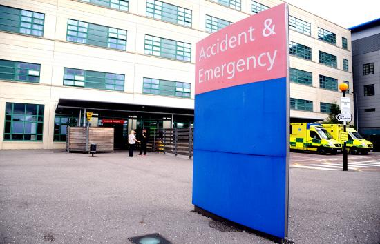 Great Western Hospital's emergency department. Picture: JAMES DOUGLAS