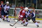 Callum Buglass in action against Guildford earlier in the season