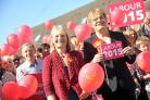 Eddie Izzard, in support of Swindon South Labour candidate Anne Snelgrove,