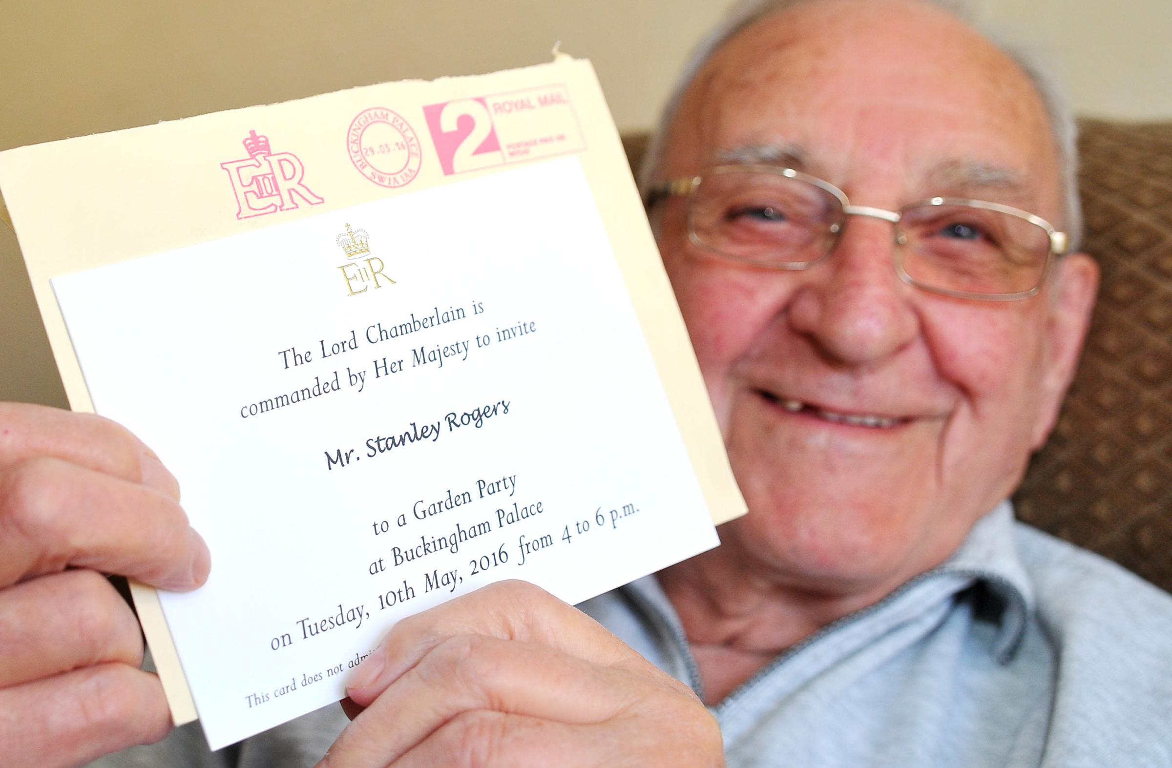 Stalwart Stan gets special invite to Buckingham Palace From – Royal Garden Party Invitation