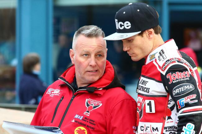 Alun Rossiter and Jason Doyle (right), who criticised Great Britain's automatic qualification for the Speedway World Cup final