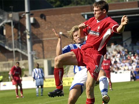 England midfielder James Milner in action whilst on loan at Town