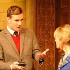 Swindon Advertiser: Lewis Collier (Sgt Trotter) and Anna Andresen (Mollie Ralston) in the 60th Anniversary Tour of Agatha Christie's The Mousetrap. Credit Liza Maria Dawson (8).jpg
