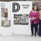 Swindon Advertiser: Michelle Smith and Ling Fang at the Delving Deep exhibition. Picture: NICOLA SALT.