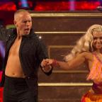 Swindon Advertiser: He puts the boy in flamboyant! Viewers could not get over Judge Rinder's energetic first Strictly dance