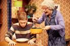 Ashley Cousins as Ben and Gill Tompkins as Granny in Gangsta Granny