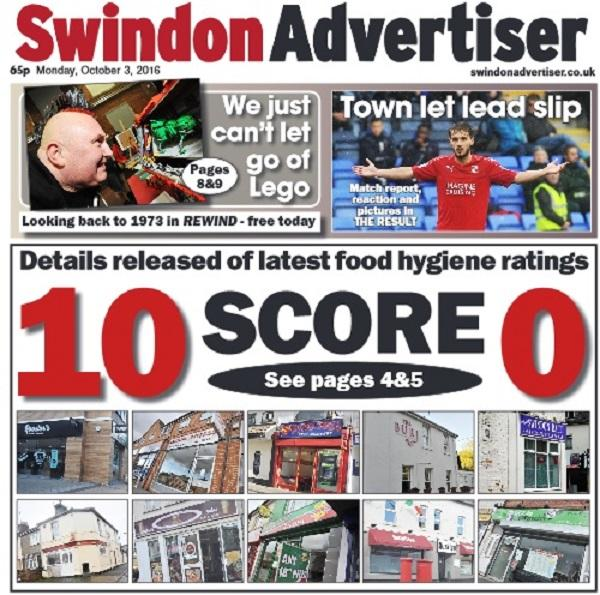 Revealed Swindons Takeaways And Restaurants With The Worst