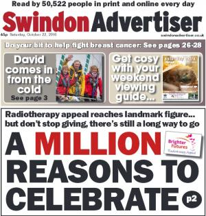 Swindon Advertiser: Don't stop fundraising yet but radiotherapy appeal hits amazing £1m milestone