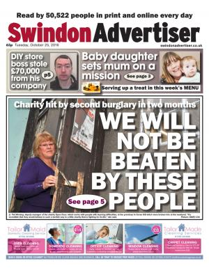 Swindon Advertiser: Open Door charity for those with learning difficulties raided twice in last two months