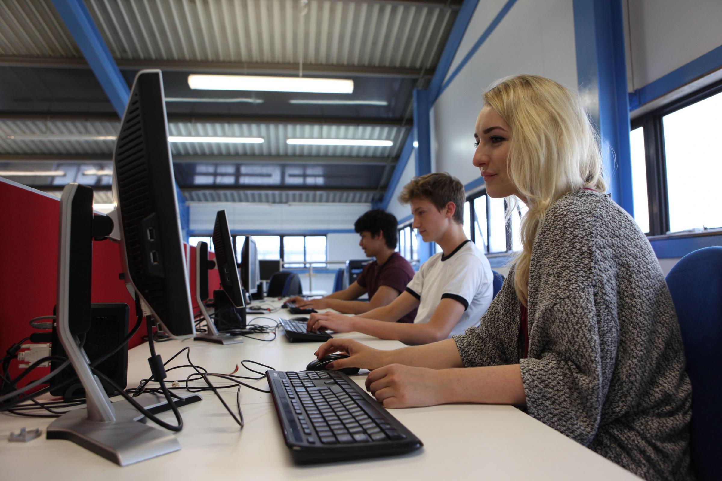 Lydiard Park Academy IT students