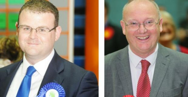 Swindon Advertiser: Councillors Russell Holland and Jim Grant