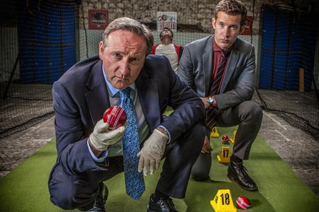 Swindon Advertiser: Last Man Out features the Midsomer Murders batting line-up of Neil Dudgeon and Nick Hendrix, who plays DS Jamie Winter