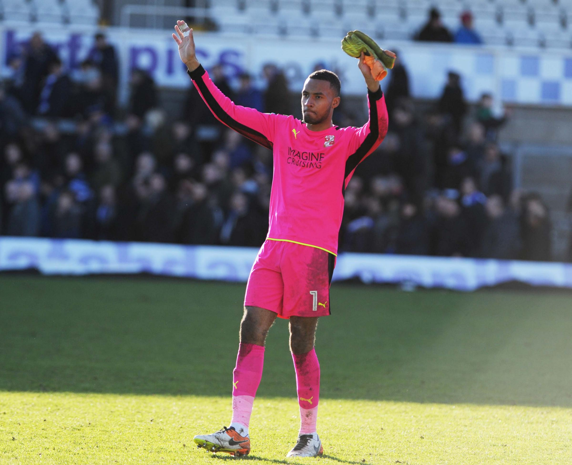 Lawrence Vigouroux has been voted the Swindon Advertiser's Swindon Town player of the year