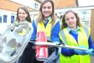 Highworth Warneford pupils during a clean-up last year. Picture by Dave Cox