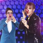 Swindon Advertiser: Mel and Sue share Red Nose snap ahead of Let's Sing And Dance For Comic Relief