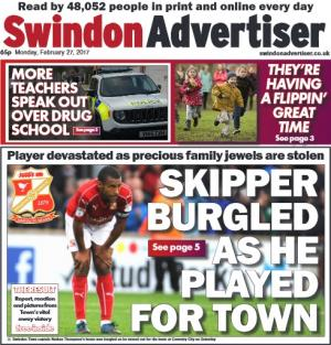 Swindon Advertiser: STFC skipper Nathan Thompson's wedding rings were among items stolen from his home during Saturday's match