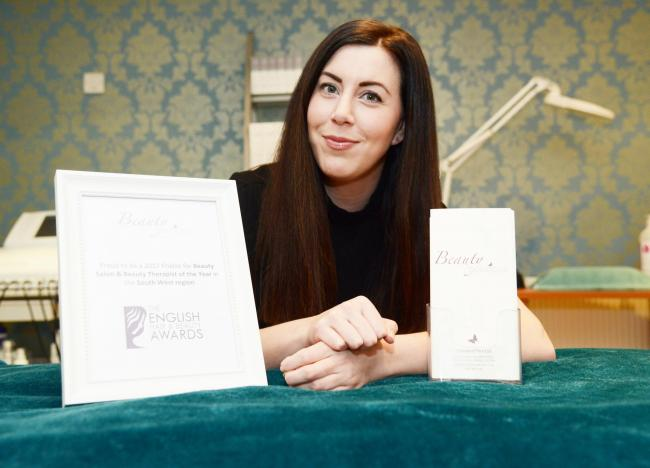 Stephanie Drewett, of Beauty Boutique, has been nominated two awards in the English Hair and Beauty Awards                           Picture: THOMAS KELSEY