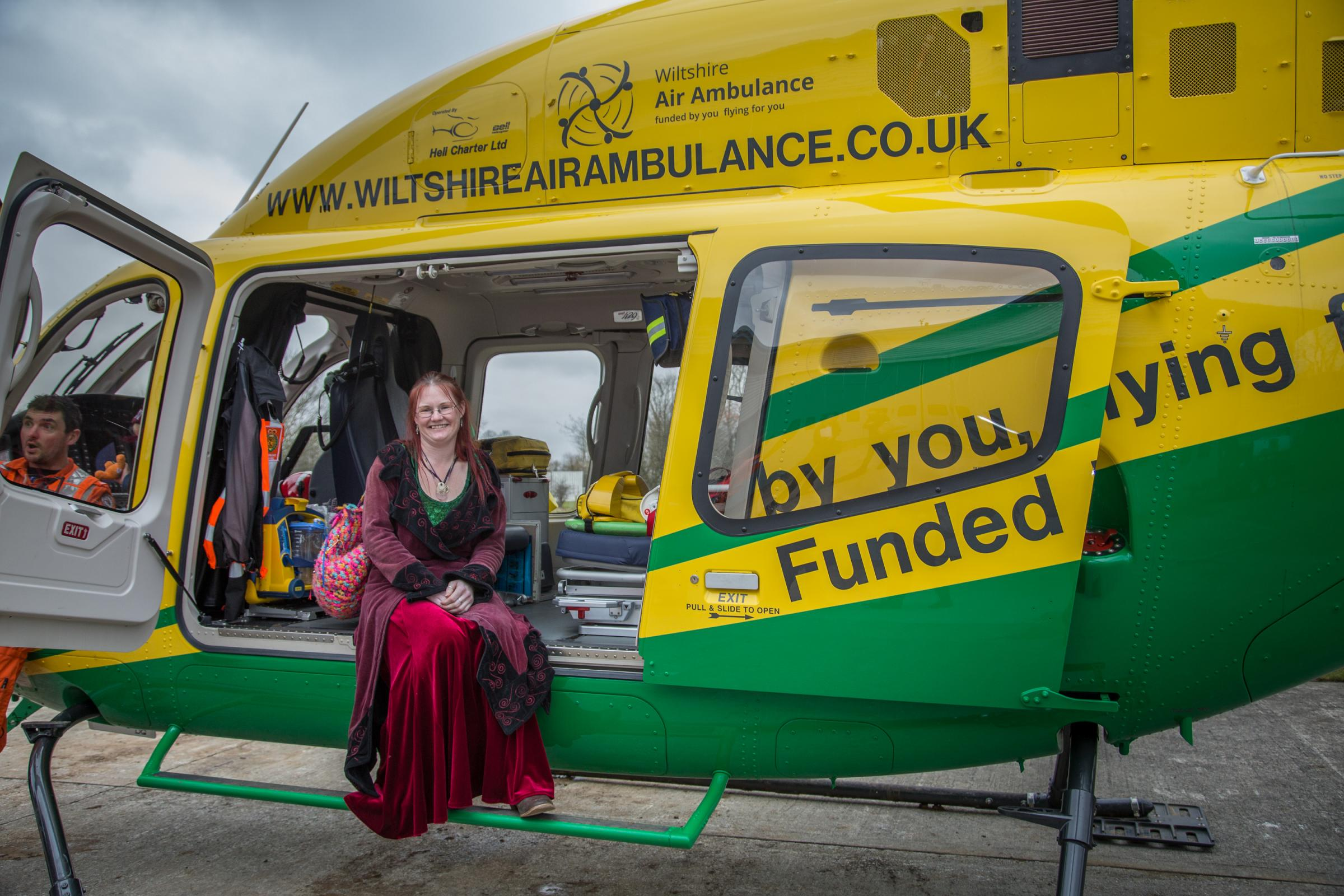 Luna Neale in the air ambulance which came into service in January 2015