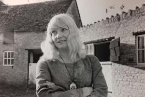 Diane Cilento at her farm