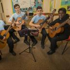 Swindon Advertiser: Music Festival Guitar Solo, Bath Road Methodist Church Pictured l-r Aaron, Alex, Luke and Jaden25/03/17Pictures Clare Green/ www.claregreenphotography.com