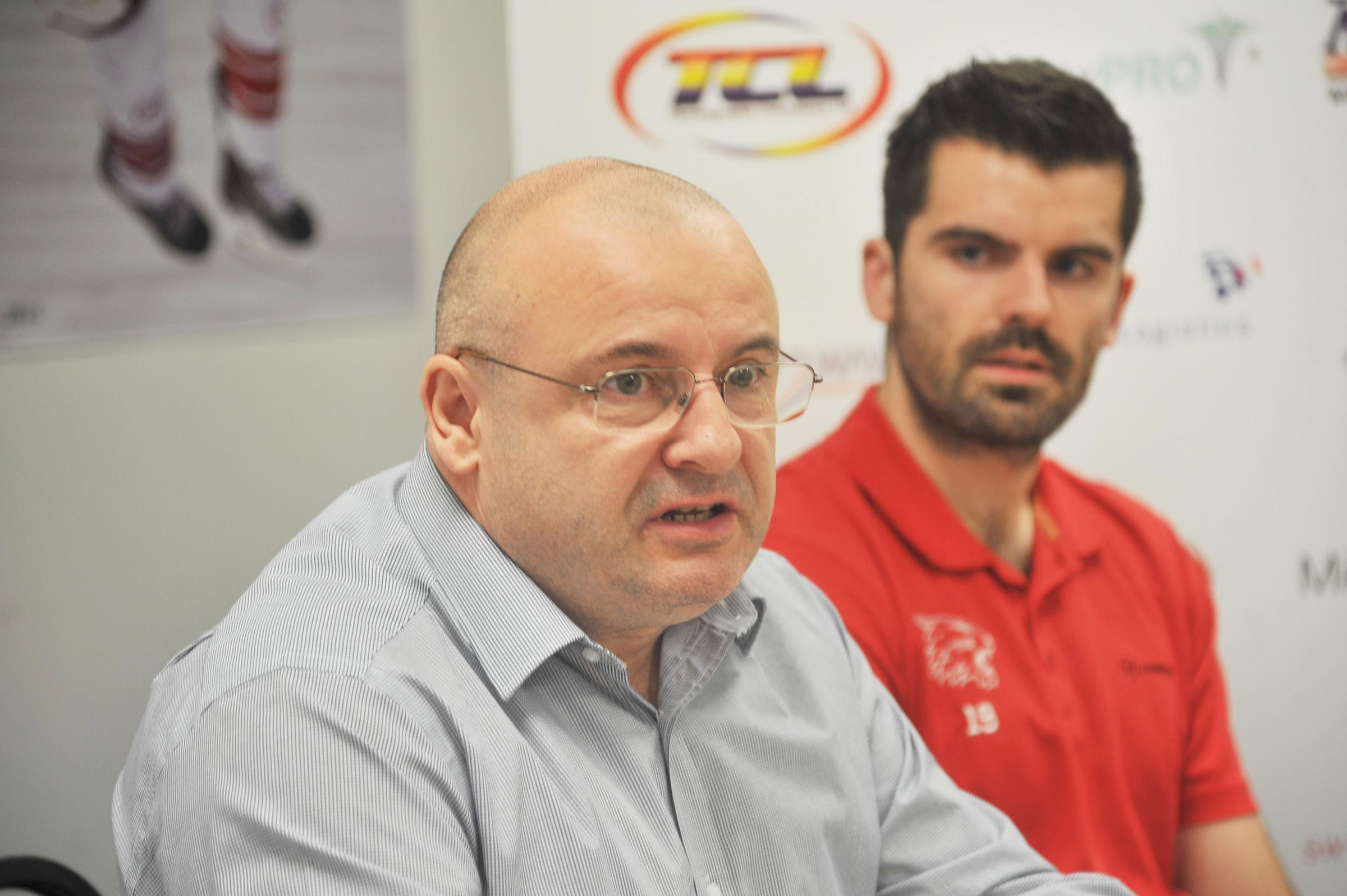 Swindon Wildcats GM Steve Nell and head coach Aaron Nell
