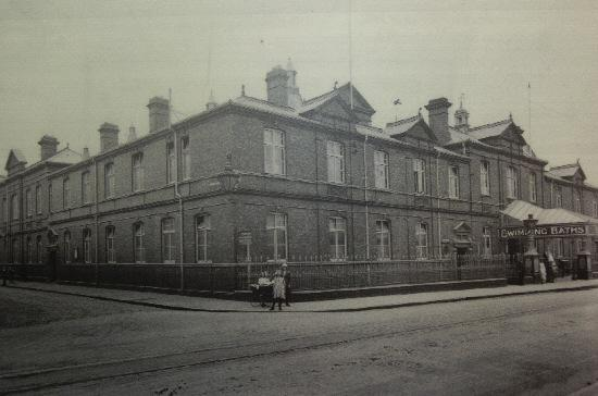 The Milton Road baths pictured at the turn of the century