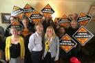 Lib Dem members with candidates Stan Pajak and Liz Webster