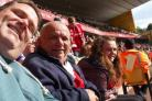 Roger Freegard with good friends Phillip Skeates and lizzie Skeates at one of Swindon Town's home games.