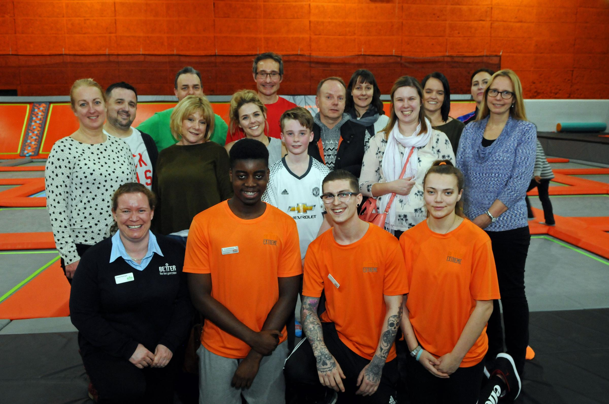 Staff and young people from SMASH Youth Project at Better's Link Centre, Swindon.