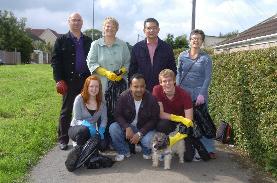 Back from left: Coun Bob Wright, Anne Snelgrove MP, Coun Derique Montaut and Sarah Bush; front from left, Sian Davies, Coun Junab Ali and Matt Rhodes