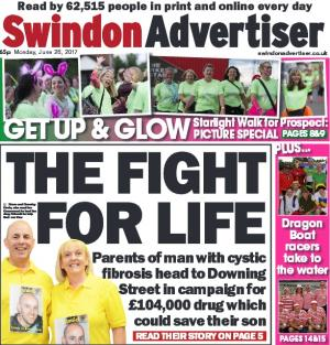 Swindon Advertiser: A dad is pleading with politicians and health bosses to pay for the drugs that could save his son's life. Click here for more