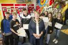 Oakfield project Year 11 pupils at the project are graduating and their leaversâ presentation is being attended by the Mayor of Swindon and teachers from the schools that referred them..Pic -  gv.Date 23/6/17.Pic by Dave Cox.