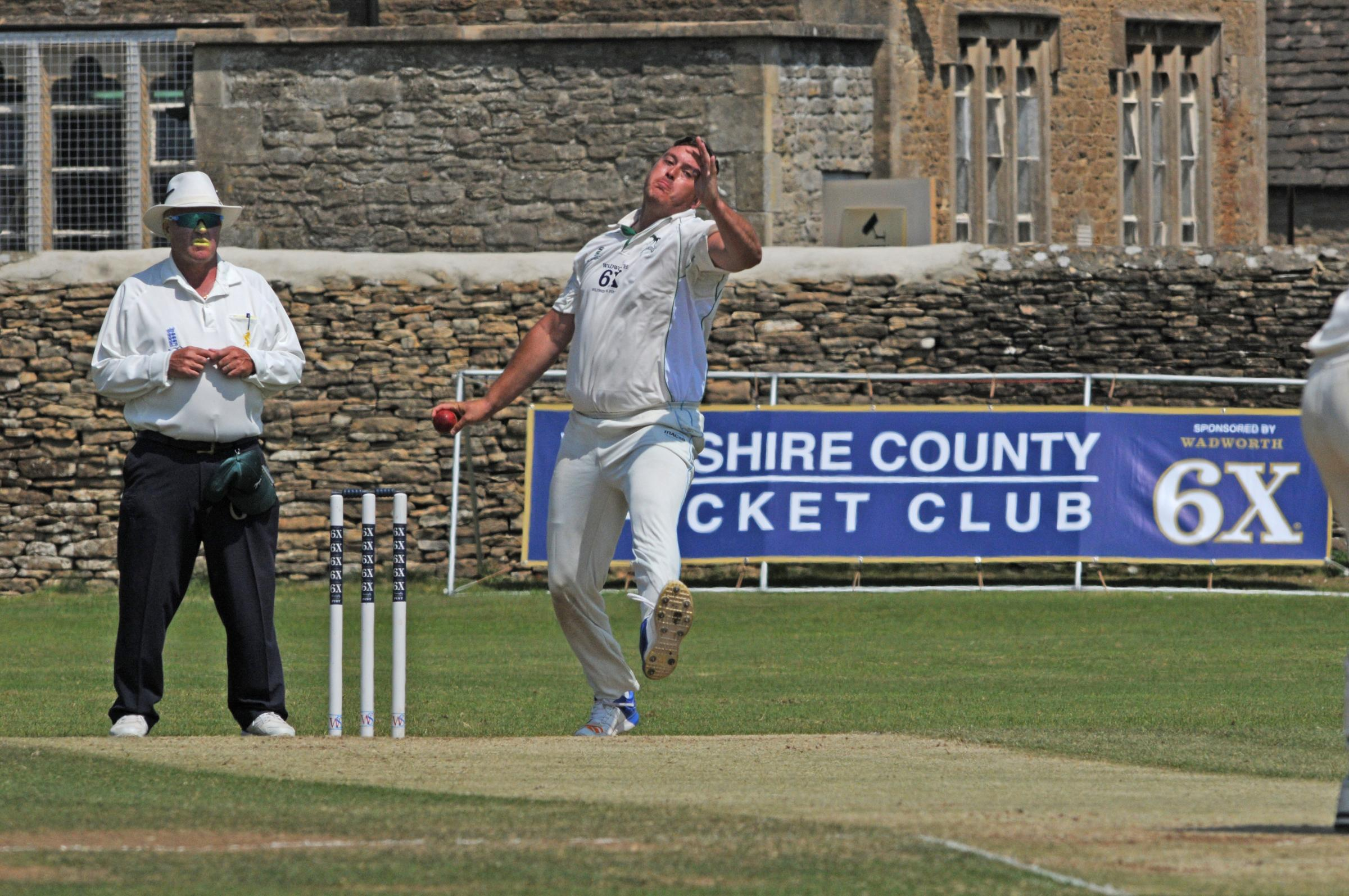 Swindon's Jake Goodwin took two wickets in the Devon reply