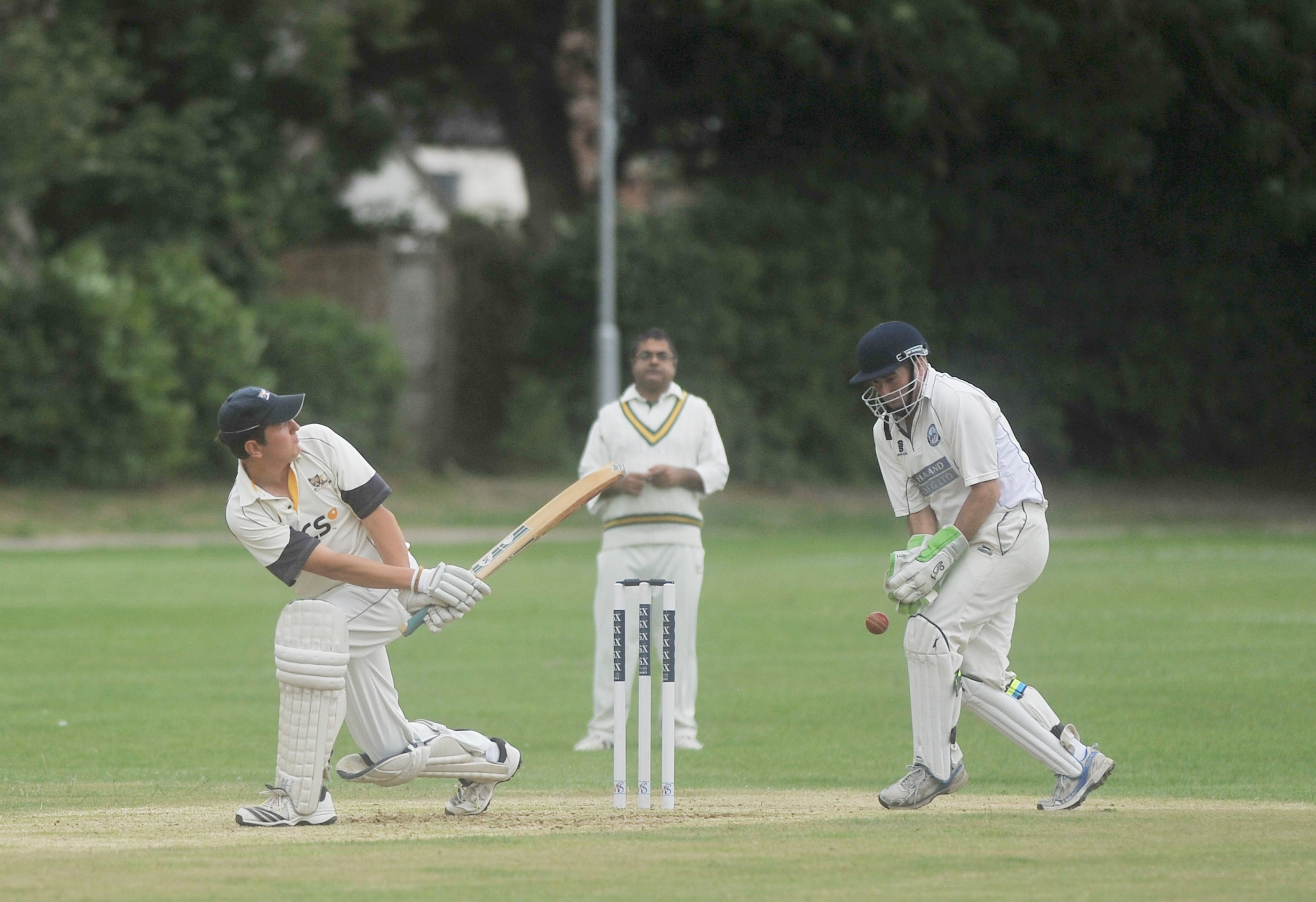 Heytesbury's Ed Read looks to play the ball down the leg side