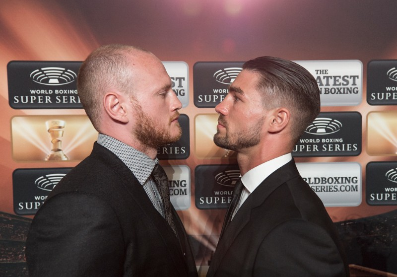 George Groves and Jamie Cox (right)