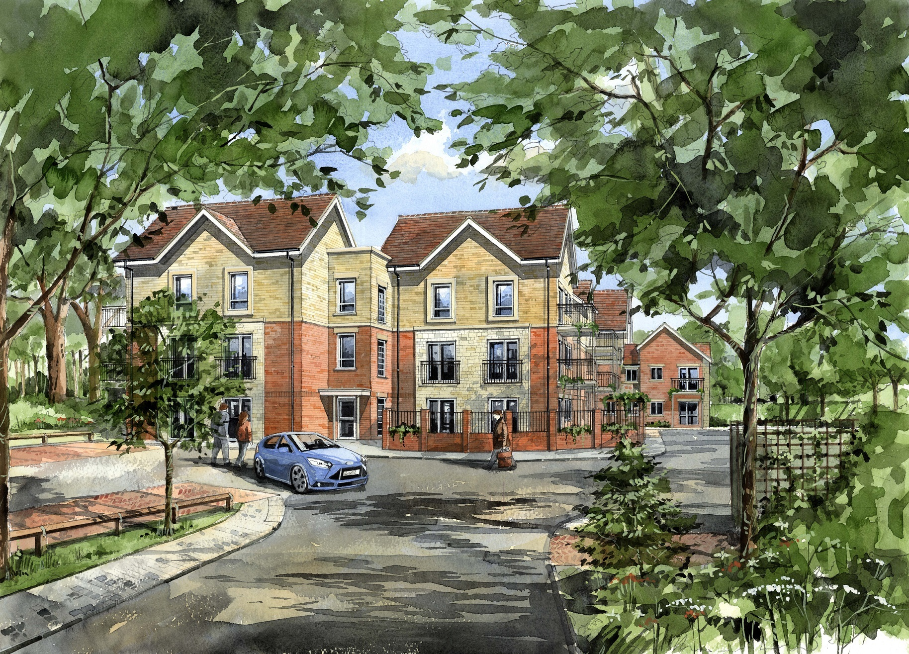 An artist's impression of how the new McCarthy & Stone retirement apartments in Wroughton might look on completion.