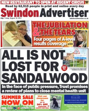 Swindon Advertiser: Don't miss today's Advertiser