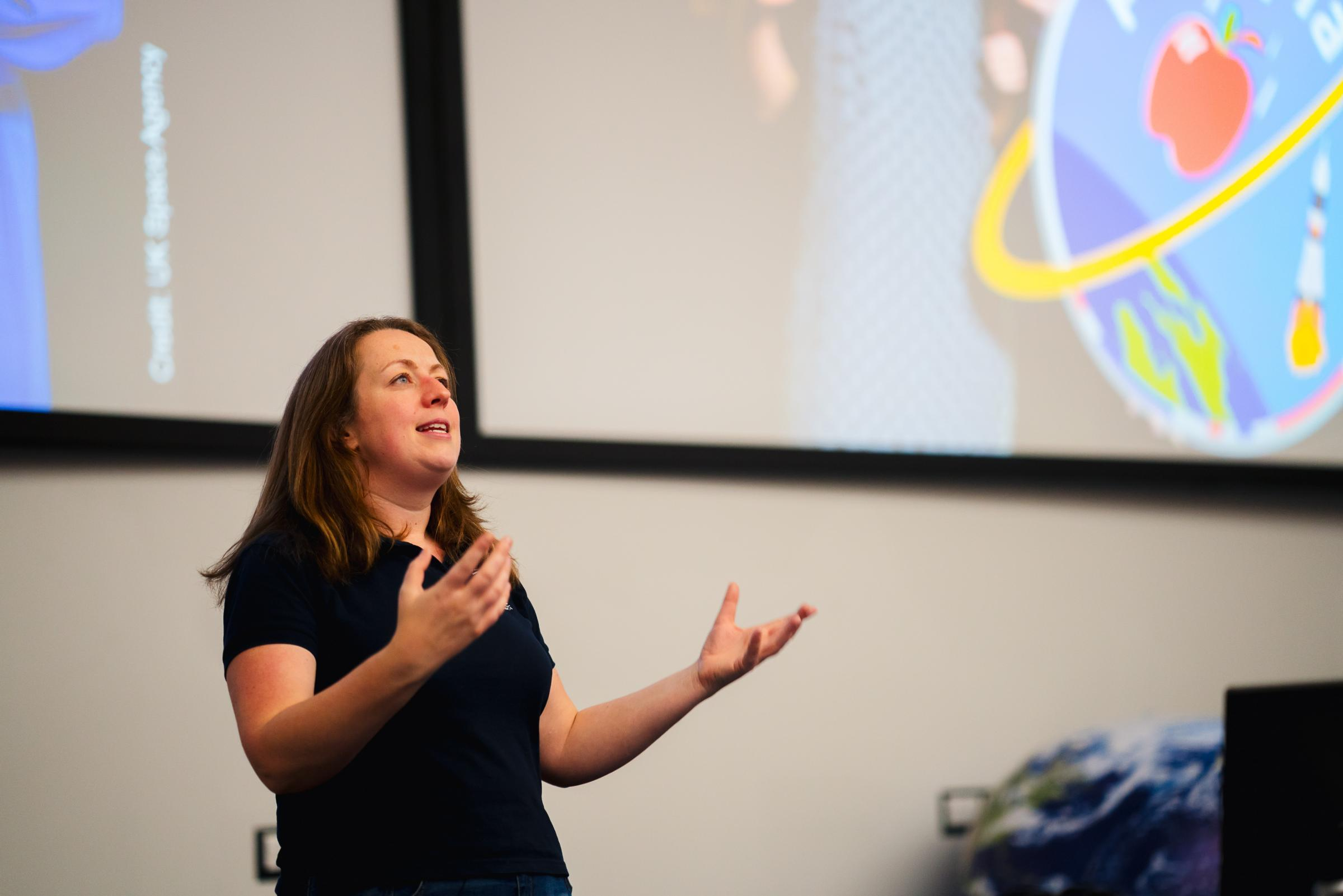 Libby Jackson, the Human Spaceflight and Microgravity Programme Manager at the UK Space Agency