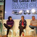 Swindon Advertiser: Richard Bacon (right) with judges and presenters for The Great British Bake Off (from left) Sandi Toksvig, Noel Fielding, Prue Leith and Paul Hollywood at Channel 4 studios in central London (PA)