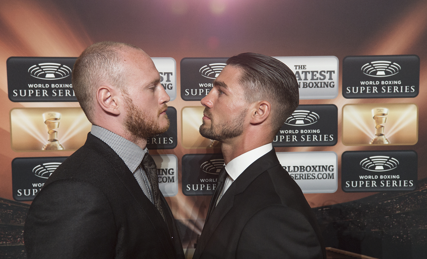 Jamie Cox (right) and George Groves