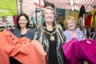 left 2 right .Pic -   Sarah Gardner, Maureen Penny, Maria Pryor.Date 22/8/17 .Pic by Dave Cox.Prospect Hospice official launch of £1  market stall at Blunsdon market being launched by mayor Maureen Penny....
