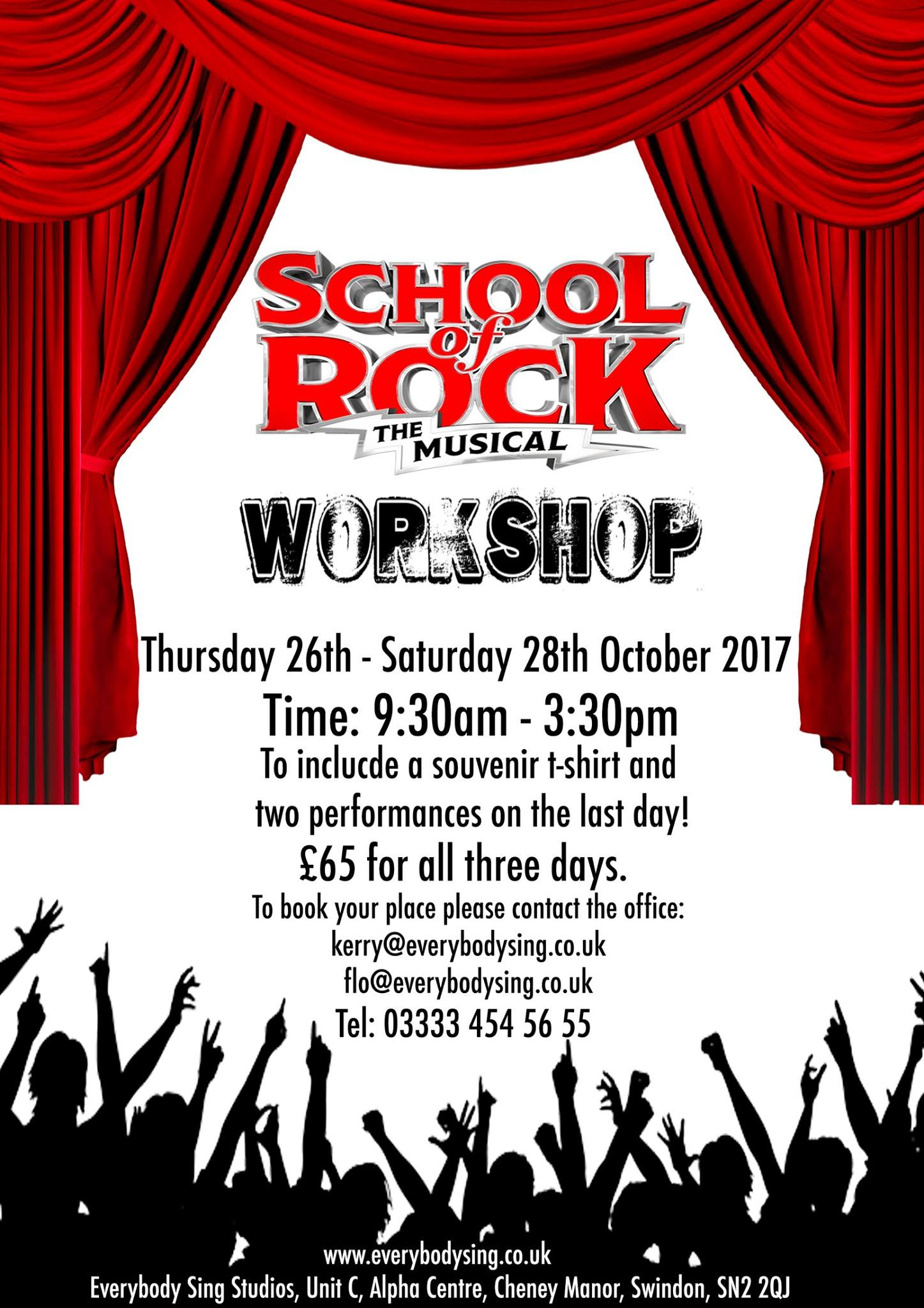 EVERYBODY SING - SCHOOL OF ROCK WORKSHOP