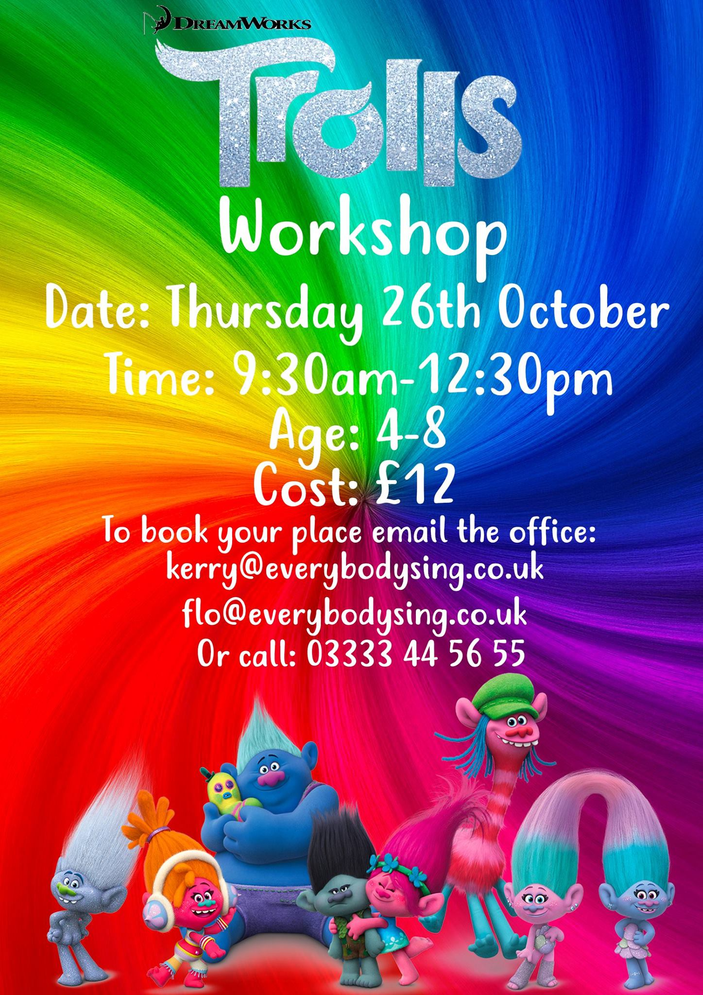 EVERYBODY SING - TROLLS WORKSHOP