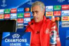 Jose Mourinho during the press conference at the AON Complex in Carrington