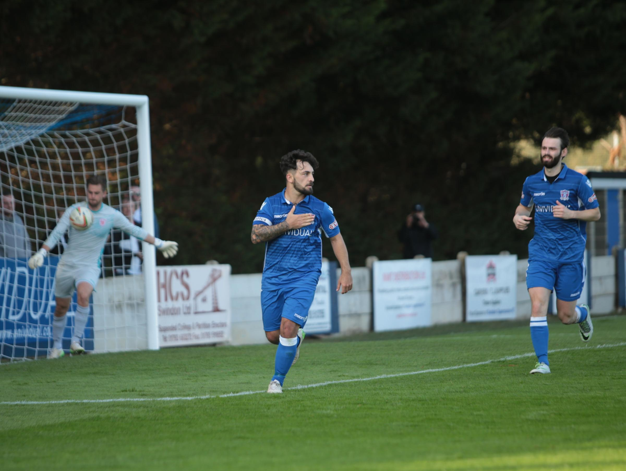 Josh Parsons was on target for Swindon Supermarine at Winchester City