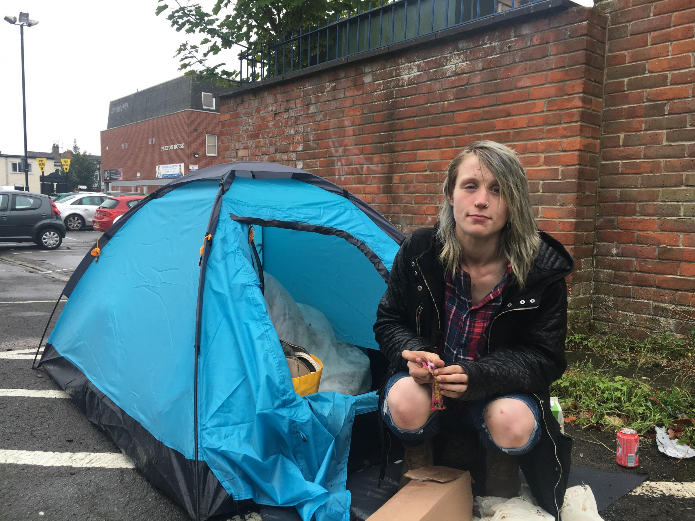 Elisha Ross in the Prospect Place car park