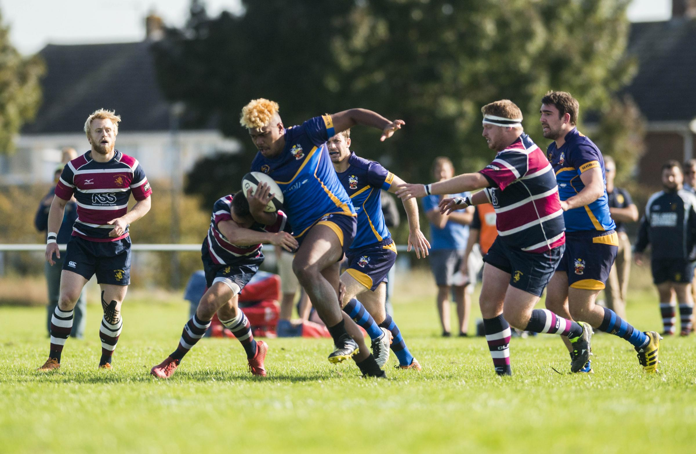 Swindon's Sonny Naiova on the charge against Old Patesians on Saturday (Picture: CLARE GREEN)