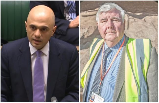 Coun Brian Ford (right) says Secretary of State Sajid Javid is not on his Christmas card list